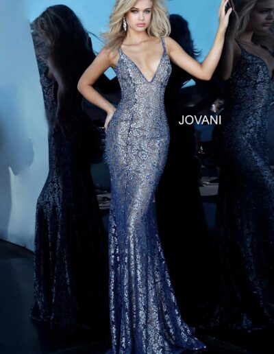 Jovani Prom Navy Silver