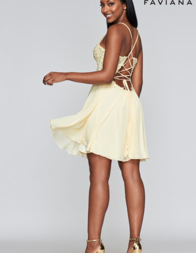Faviana Prom Buttercream Dress