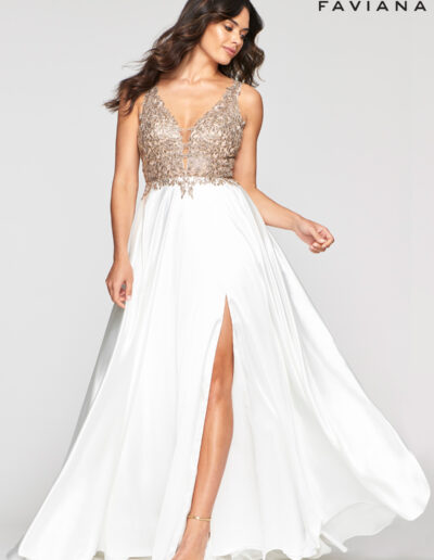 Faviana Prom Ivory Dress