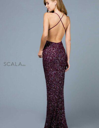 Scala Prom Pommegranite Back