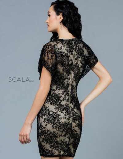 Scala Evening Black Nude Back