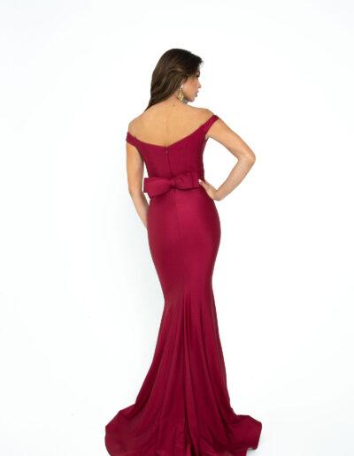 Atria Beet Red dress back