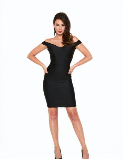 Atria black short dress