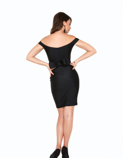 Atria black short dress back