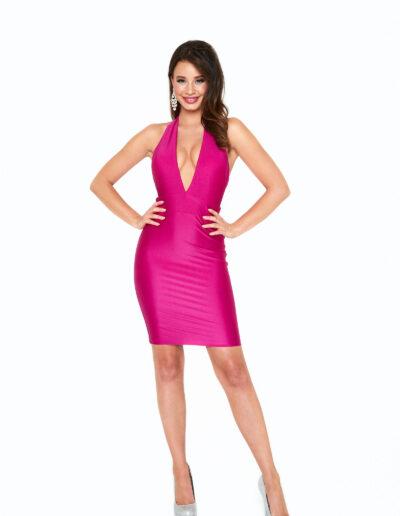 Atria Magenta short dress