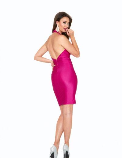 Atria Magenta short dress back
