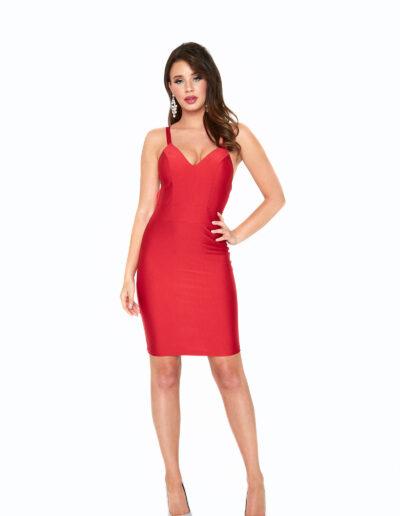 Atria Red short dress