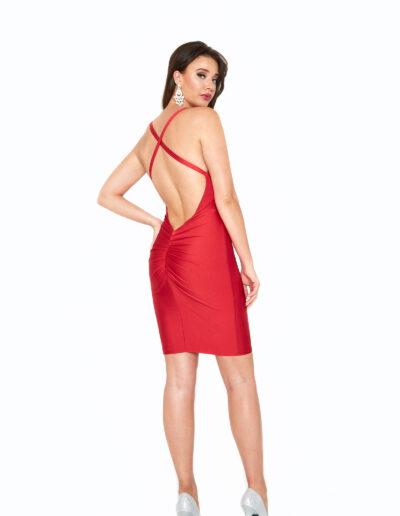 Atria Red short dress back