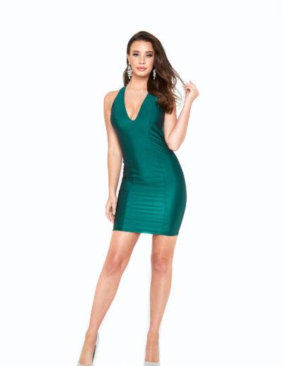 Atria Forest Green short dress