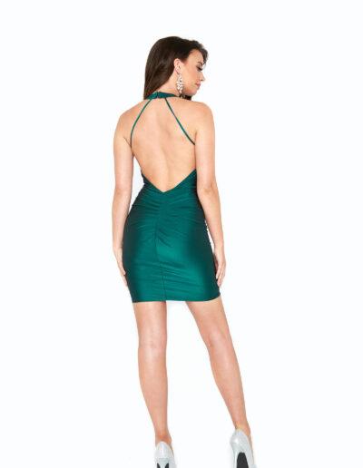 Atria Forest Green short Dress back
