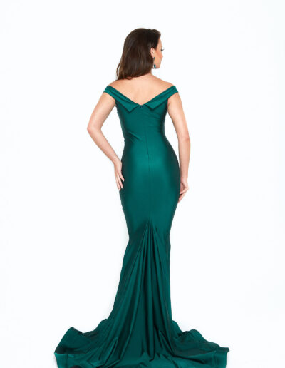 Atria Forest Green dress back