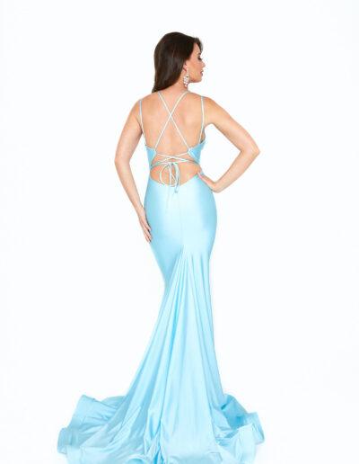Atria light blue dress back