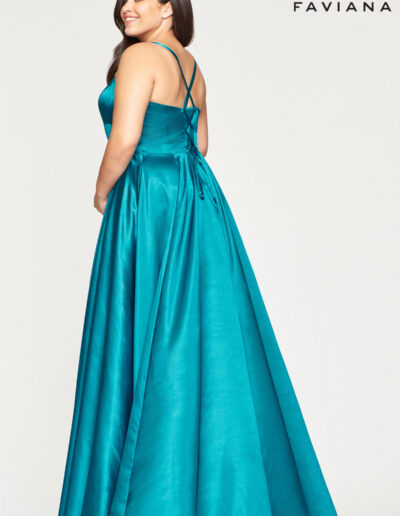 Faviana Prom Peacock blue Dress