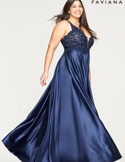 Faviana Prom Navy Dress