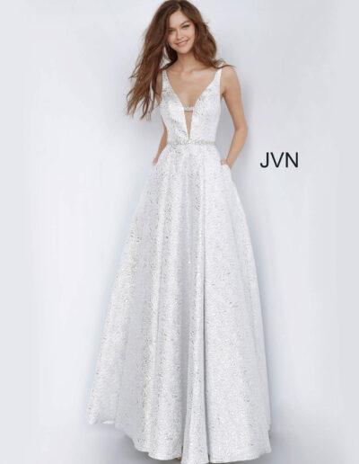 JVN By Jovani Prom Silver Front