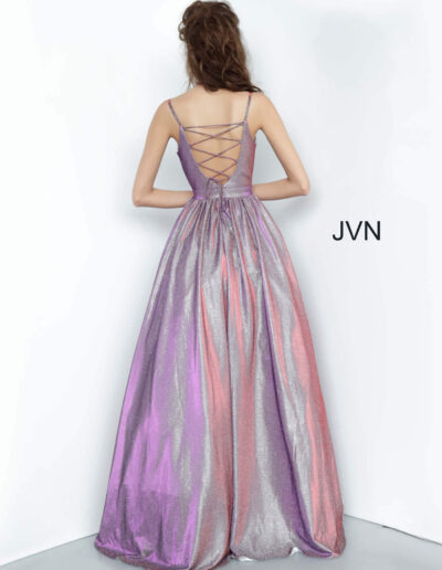 JVN By Jovani Prom Purple Back