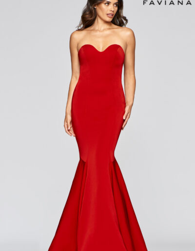 Faviana Prom Red Dress