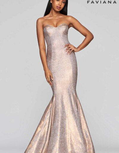 Faviana Prom Copper Dress